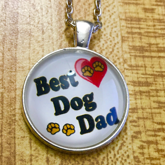 Best Dog Dad Cabochon Fashion Necklace - Synonyco.com