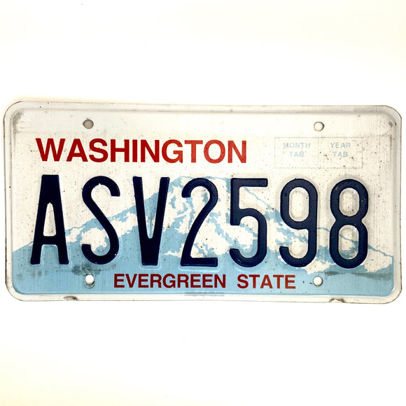 Washington License Plate ASV2598