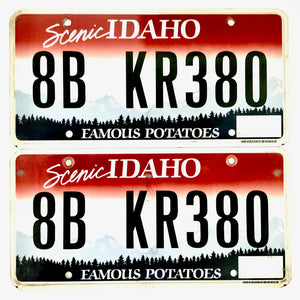 Untagged Idaho License Plate Pair KR380