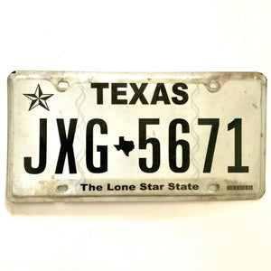 Texas License Plate JXG 5671