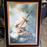 Rembrandt Storm on the Sea Of Galilee Framed Oil Reproduction - Synonyco.com