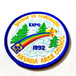 1992 Bridge to Tomorrow Scout Patch - Synonyco.com