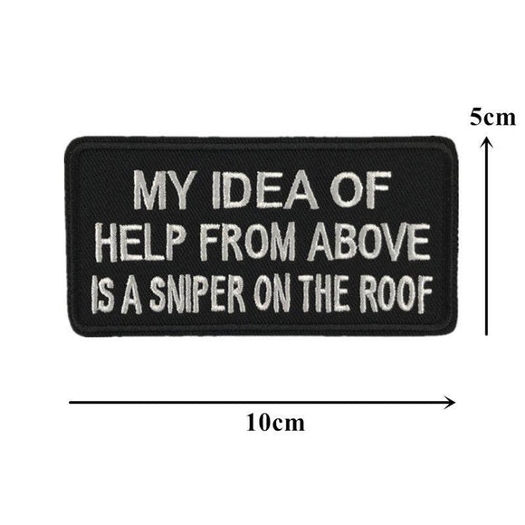 My Idea of Help From Above Sew On Biker Patch - Synonyco.com