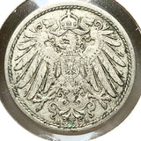 1907 A Germany 10 Pfennig Coin - A0013