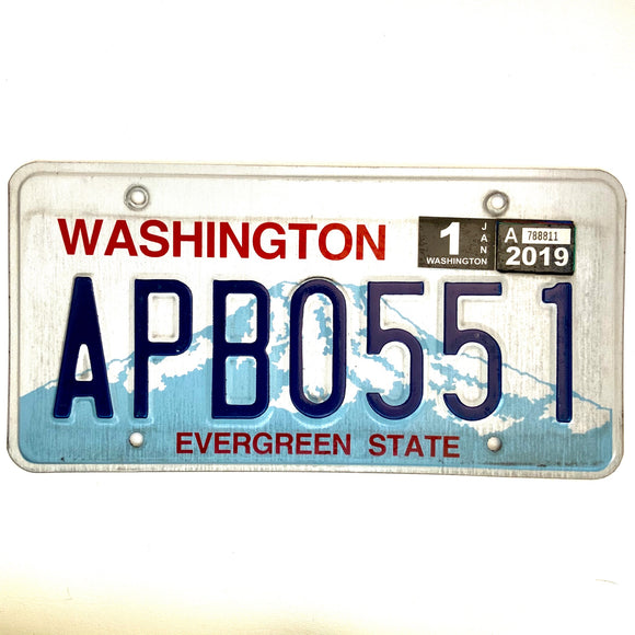 2019 Washington License Plate APB0551