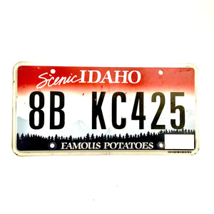Idaho License Plate 8B KC425