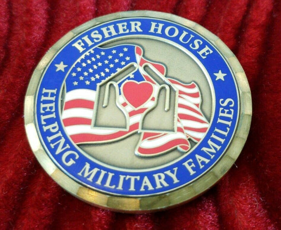 Fisher House Houston Texas Debakey VAMC Challenge Coin