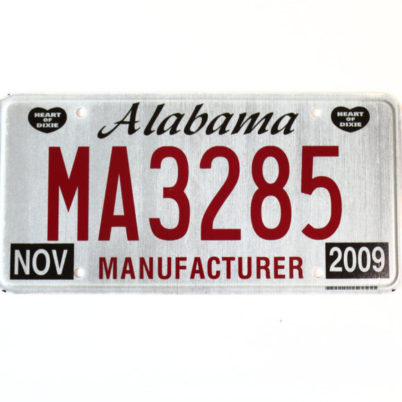 Alabama License Plate MA3285