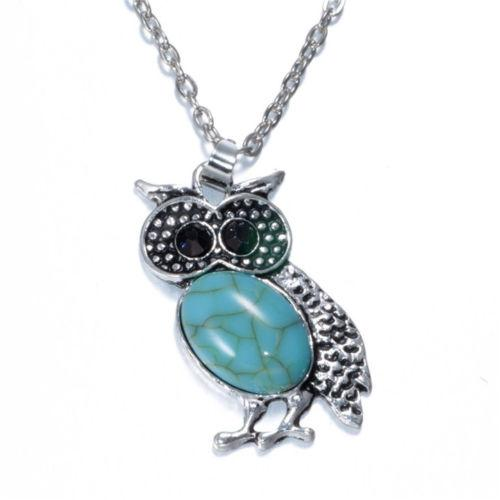 Turquoise Style Owl Necklace - Synonyco.com