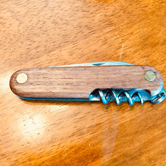 Wood Grain Pocket Knife