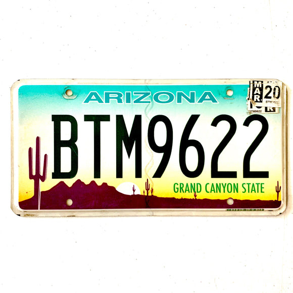 2020 Arizona License Plate BTM9622