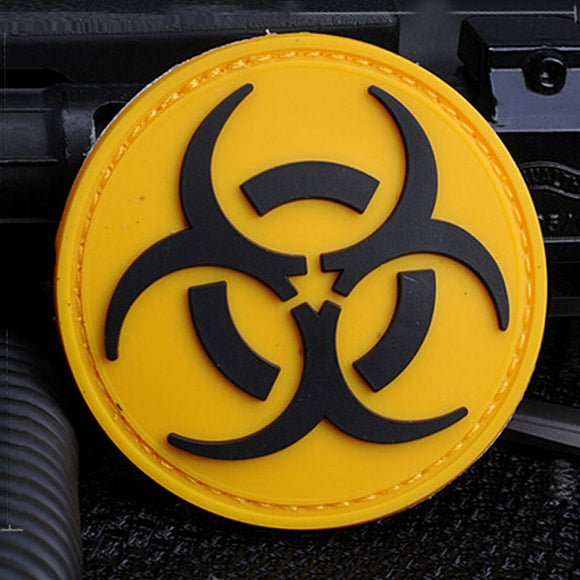 Yellow Biohazard PVC Patch