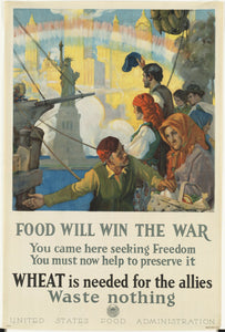 Vintage Style WWII Food Administration Canvas Poster 12x18 - Synonyco.com