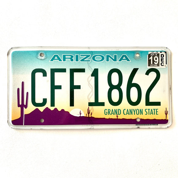 2019 Arizona License Plate CFF1862
