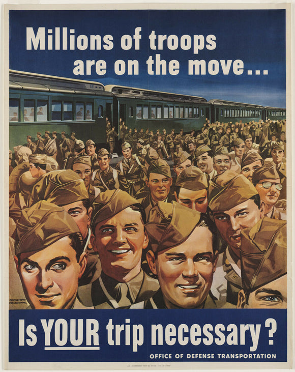 Vintage Style WWII On The Move Canvas Poster 12x15 - Synonyco.com