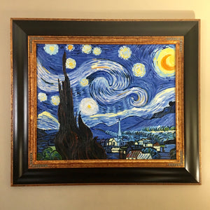 Vincent Van Gogh Starry Night Framed Oil Reproduction Painting - Synonyco.com