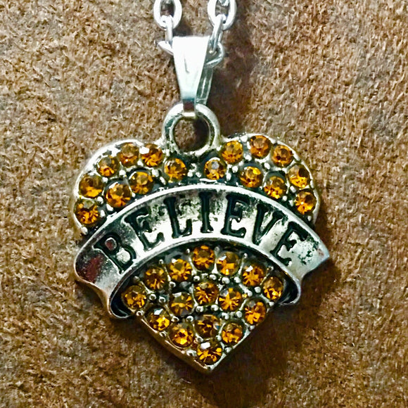 Believe Heart Necklace - Synonyco.com