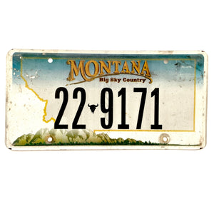 Untagged Montana License Plate 22 9171