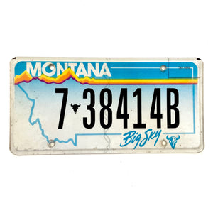 Untagged Montana License Plate 7 38414B