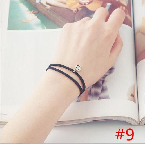 Double Strand Smiley Face Leather Fashion Bracelet - Synonyco.com