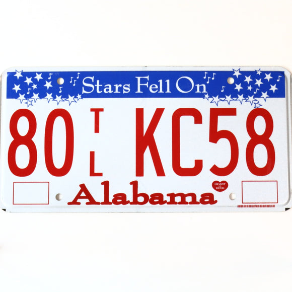 Alabama License Plate 80 TL KC58