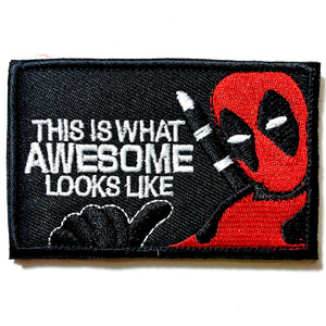 "Deadpool Black ""What Awesome Looks Like"" Patch - Synonyco.com"