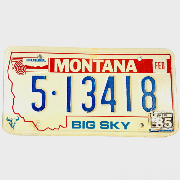 1985 Montana Lewis & Clark County License Plate 5-13418 - Synonyco.com
