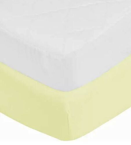 aBaby Toddler Mattress Protector and Sheet Combo, Yellow
