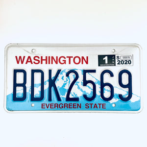 2020 Washington License Plate BDK2569