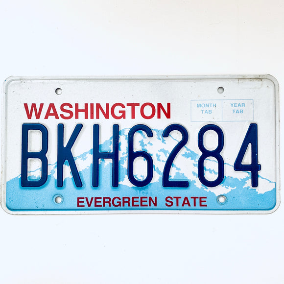 Washington License Plate BKH6284