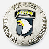 US Burlingame, San Meteo, Hillborough, Bastogne Challenge Coin - Synonyco.com