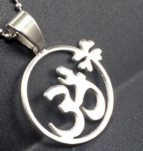 Stainless Steel Yoga Om Necklace - Synonyco.com