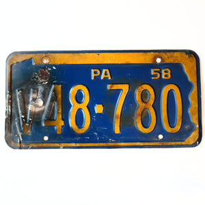 1958 Pennsylvania License Plate V48 780