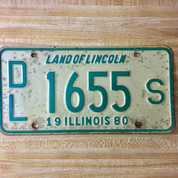 1980 Illinois Dealer License Plate Matched Set DL 1655 S - Synonyco.com