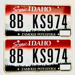 Untagged Idaho License Plate Pair KS974