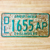 1980 Illinois Dealer License Plate Matched Set DL 1655 AP - Synonyco.com