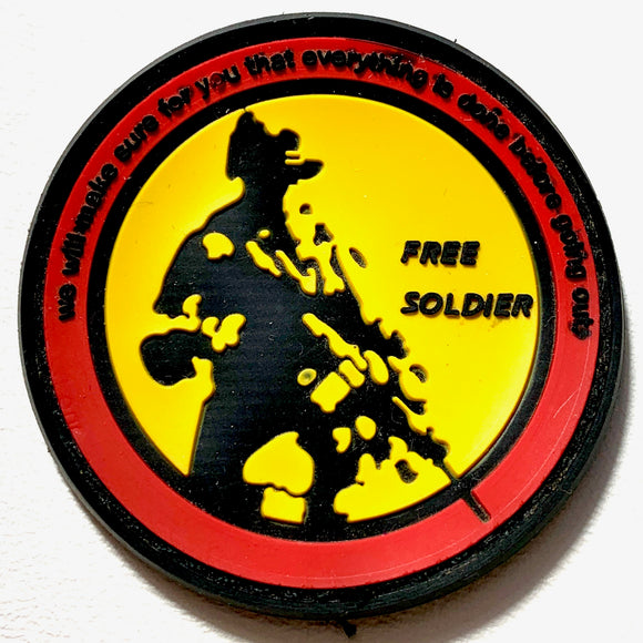 Free Soldier Hook and Loop Rubber Patch - Synonyco.com