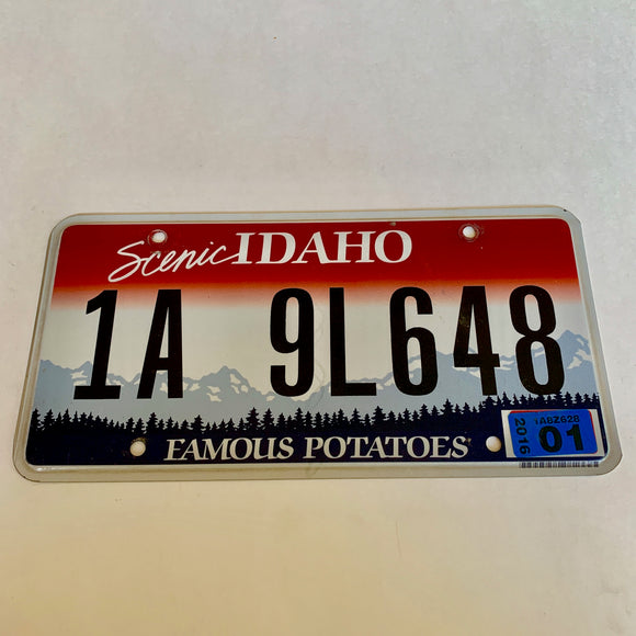 2016 Idaho License Plate 1A 9L648