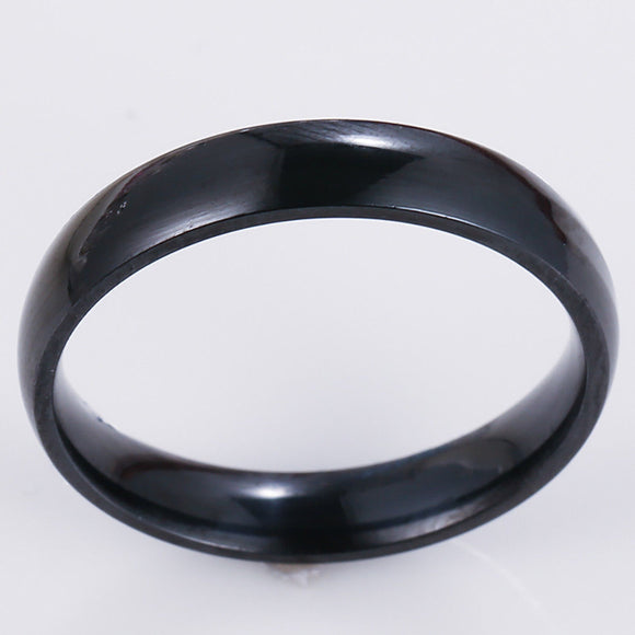 4mm Black Stainless Steel Ring - Synonyco.com