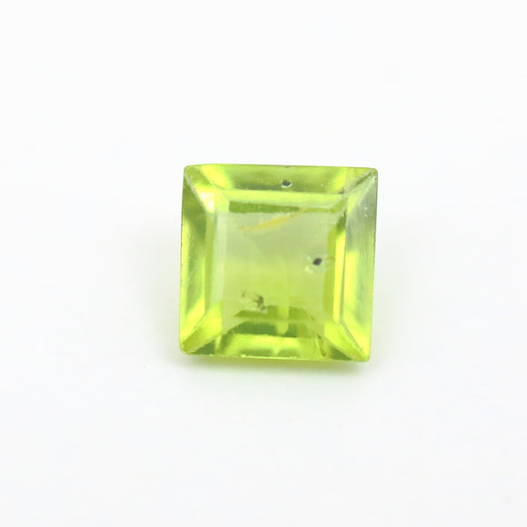 Green Citrine .62ct 5mm Princess Cut - Synonyco.com