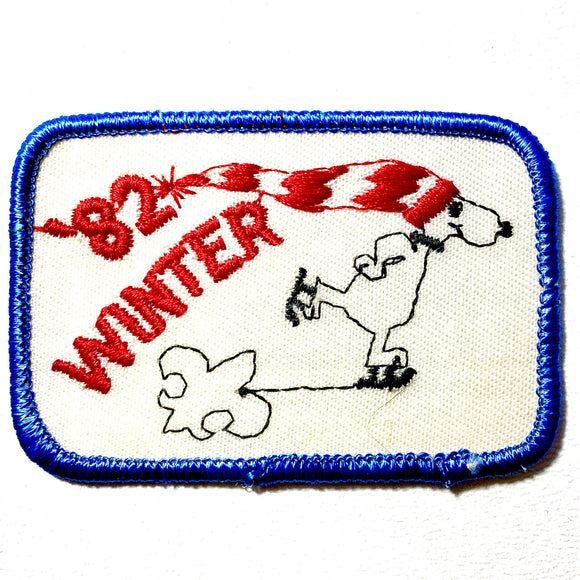 1982 Winter Camp Scout Iron-on Patch - Synonyco.com