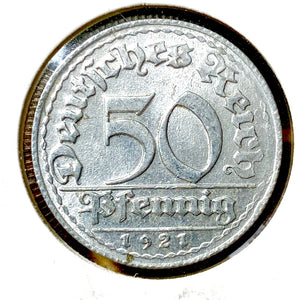 1921 D Germany 50 Pfennig Coin - Synonyco.com