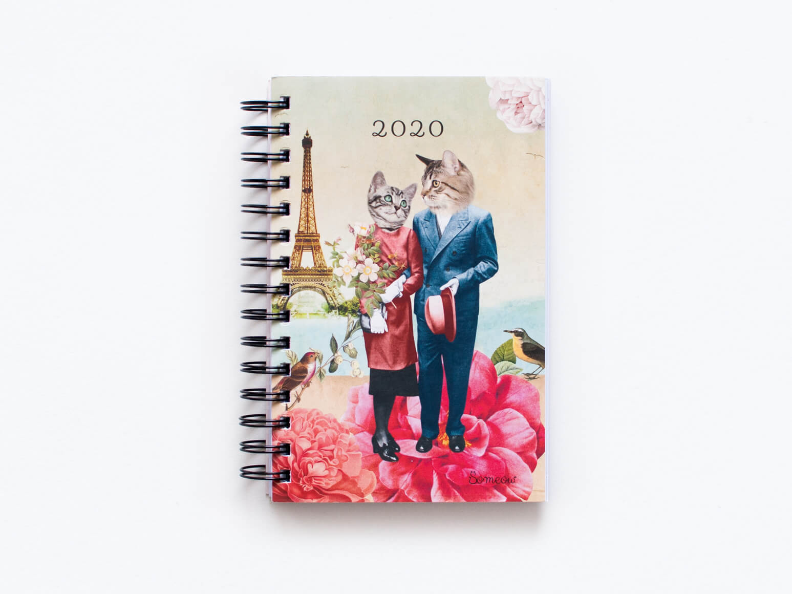 Agenda chat 2020 Les amoureux à Paris par So Meow