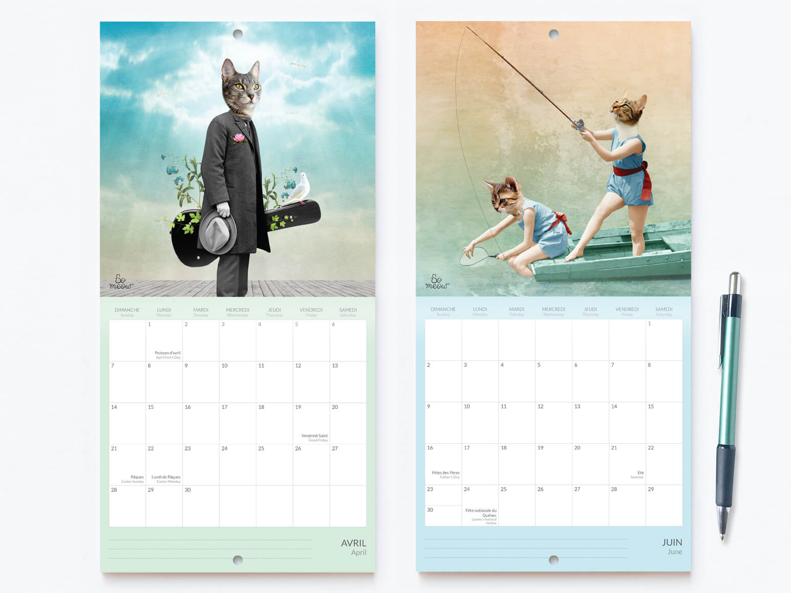 Calendrier de chats 2019 original par So Meow