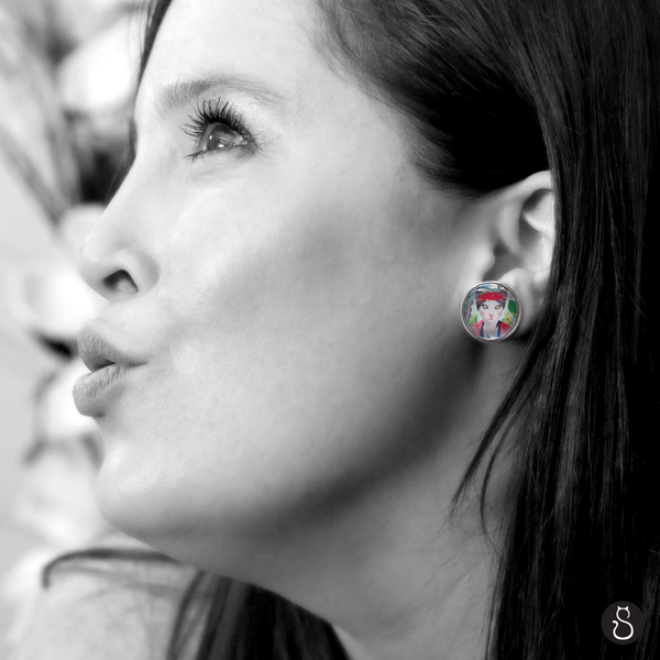 Boucles d'oreilles Frida Cathlo par So Meow et Bricos