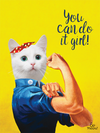 Carte de chat You Can Do It Girl!