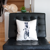 Housse de coussin décorative - Cat on Bike - Pillow case - So Meow