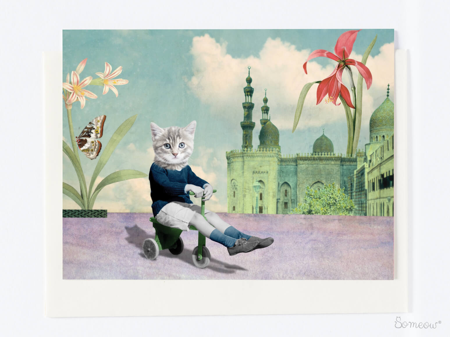 Carte de chat «Au Jardin» par So Meow