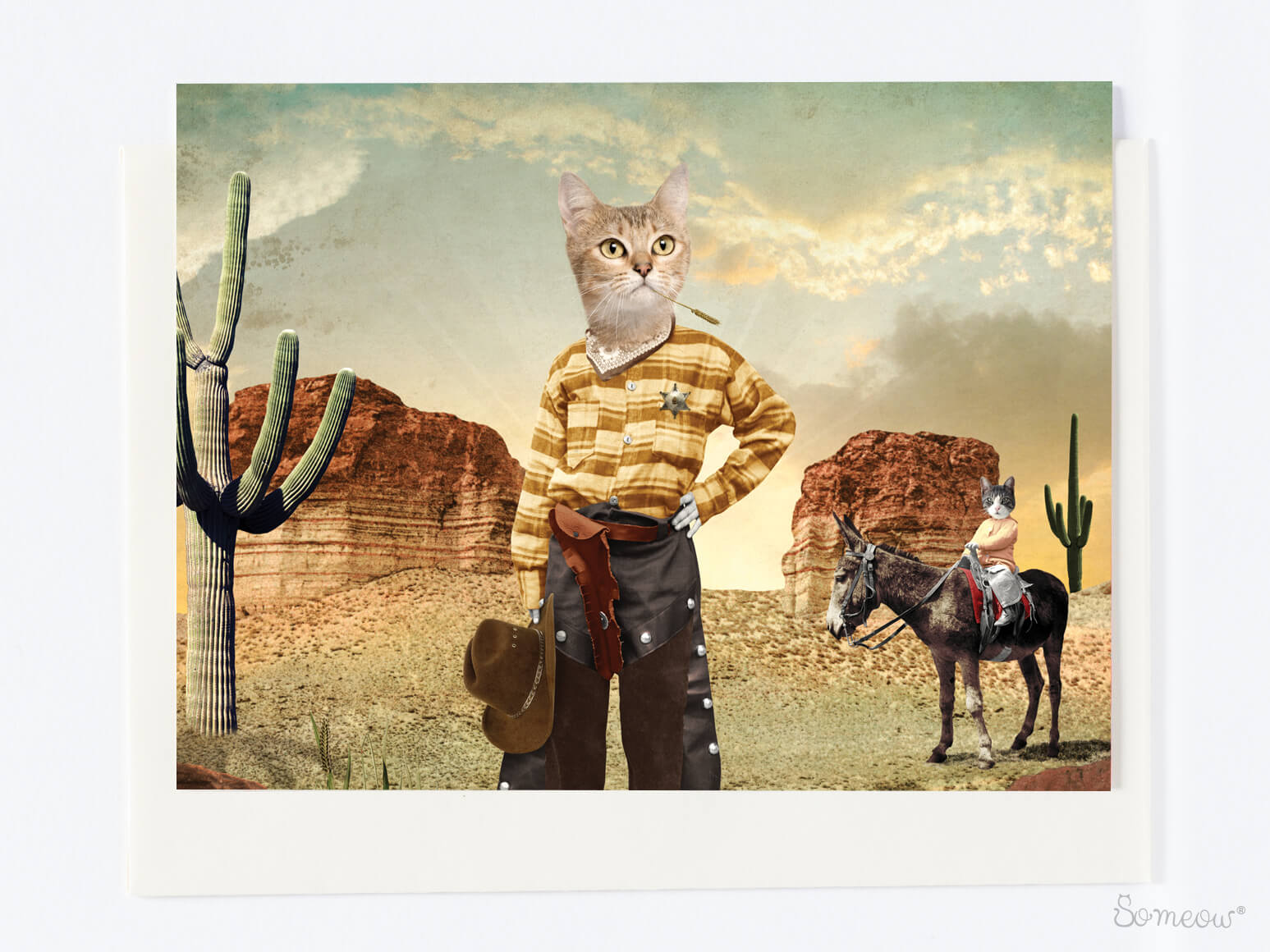 Carte d'un chat singapura cowboy par So Meow