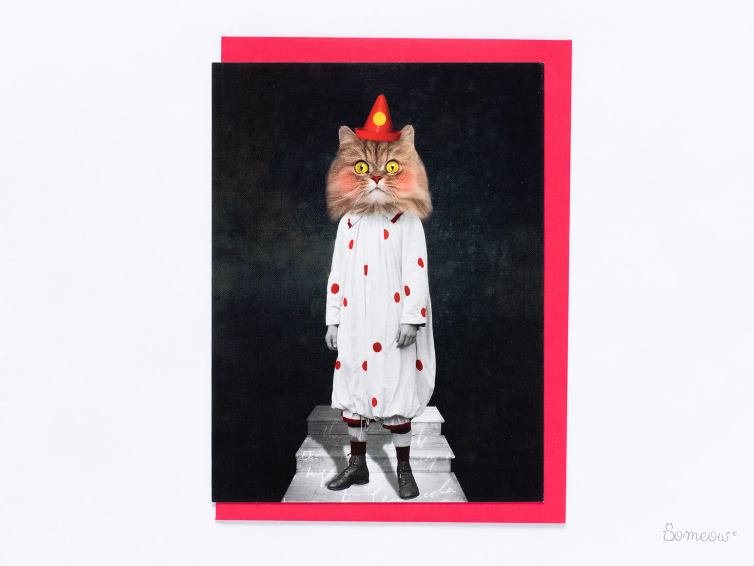 Carte de fête de chat persan, Le clown par So Meow